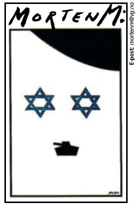 karikatur VG Morten M, Israel som Hitler
