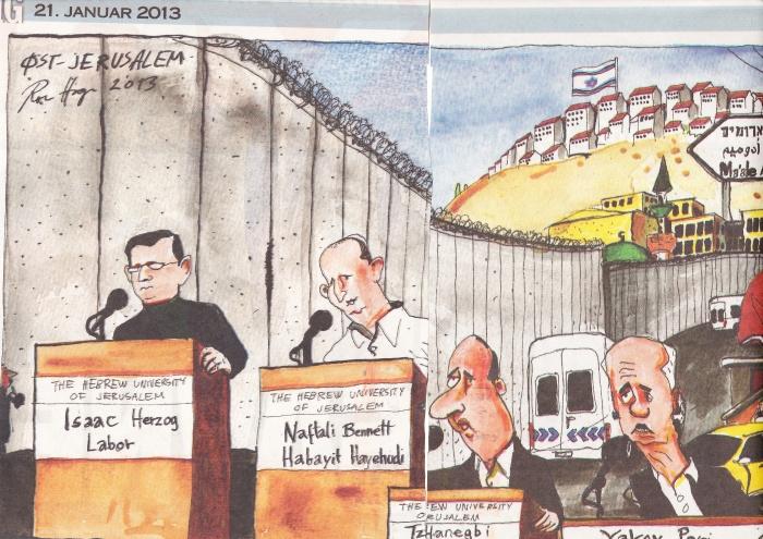 VG - Karikaturtegning av Muren valg13