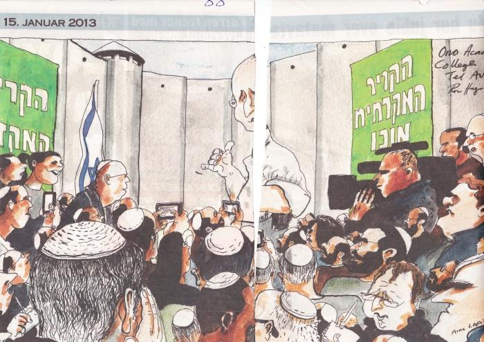 VG - Karikaturtegning av Muren