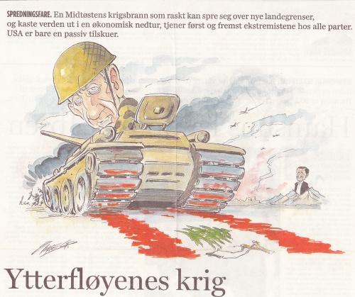 Karikatur i Aftenposten Libanonkrig