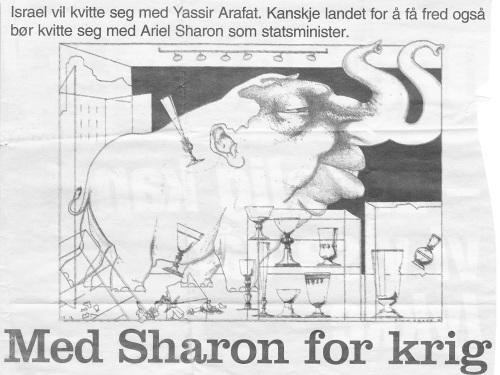 Karikatur i Dagbladet 14.12.2001